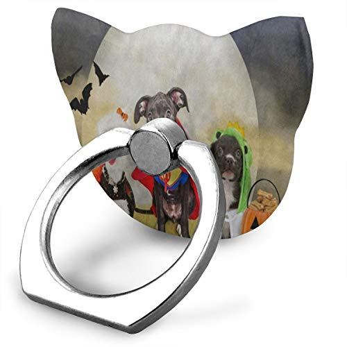 Phone Stand Hipster Puppy Dog Dressed in Halloween Costumes Cat Type Ring Phone Holder Phone Stand for IPad Phone X/6/6s/7/8/8 Plus/7, Galaxy S9/S9 Plus/S8/S7 Android Smartphone]()