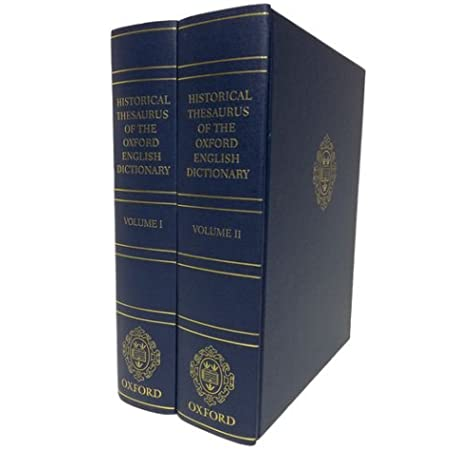 Historical Thesaurus Of The Oxford English Dictionary 2 Volume Set Kay Christian Roberts Jane Samuels Michael Wotherspoon Irene 9780199208999 Amazon Com Books