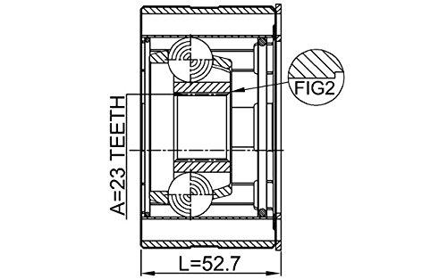 Joint Shaft Assembly 23X79.8 Febest 0411-CU2WSHA Oem MB661414