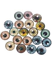 GOGORHEA 20Pcs Glass Doll Eyes Animal DIY Crafts Eyeballs for Dinosaur Eye Accessories Jewelry Making Handmade 8mm/12mm/18mm