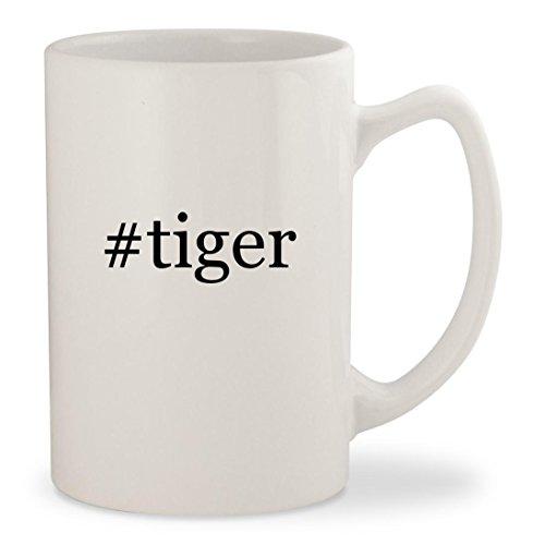 Price comparison product image #tiger - White Hashtag 14oz Ceramic Statesman Coffee Mug Cup