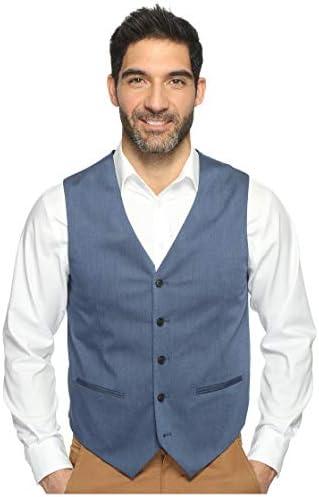 Perry Ellis Men`s Heather Twill Stretch Suit Vest