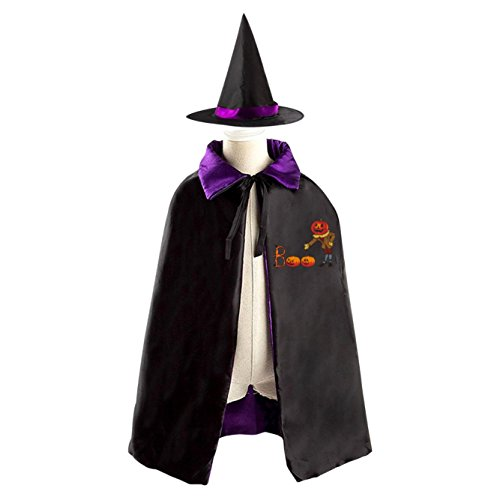 Babadook Costumes (All Saints' Day Wizard Poncho Hat Reversible Costumes Suit Print With B Alphabet Logo For Youngs Cosplay In Christmas (purple))
