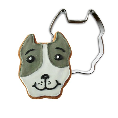 Cookie Cutter Pit Bull Face (cropped - Time Mail Delivery Priority Express