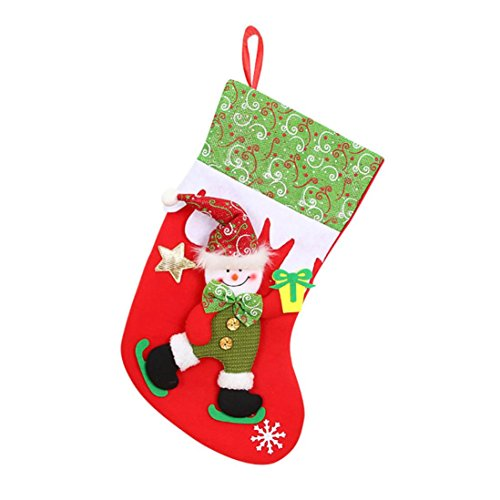 Staron Christmas Stockings Hanging Gift Bags, Xmas Candy Stocking Stuffers for Kids Teens Adults (Snowman)