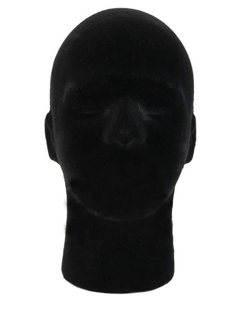 1 Pcs Female Styrofoam Mannequin Manikin Head Model Foam Wigs Hats Hairpieces Style Model Display (Black)