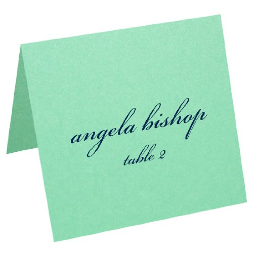 3x3 Square Metallic Blank Place Card - Stardream Lagoon, 25 (Stardream Lagoon Square)