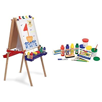Melissa & Doug Deluxe Easel and Accessory Set Bundle: Toys & Games