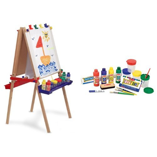Melissa & Doug Deluxe Easel and Accessory Set Bundle