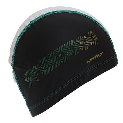 Speedo Womens/Ladies 80 08 Pace Swim Cap (One Size) (Black/Green)