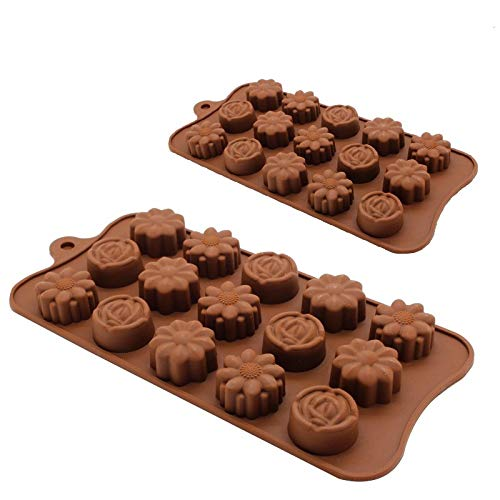 Cake Molds - Brand Rose Flower Chocolate Shape Cake Mould Silicone Handmade Crafts Diy - Items Rugs Supplies Heart Cake Shaped Kitchen Cake Molds Fruit Mold Silicon Slice Soap Bake Mould Oval ()