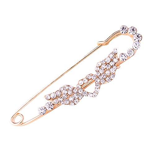 Crystal Angel Wings Love Brooch Pin For Women or Girls (Custom Angel Wings Costume)