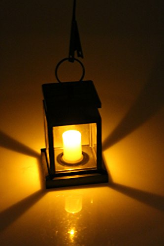 ion Lantern, Vintage Solar Powered Waterproof Hanging Umbrella Lantern Candle Lights Led with Clamp Beach Umbrella Tree Pavilion Garden Yard Lawn Etc. Lighting & Decoration (Solar Candle)
