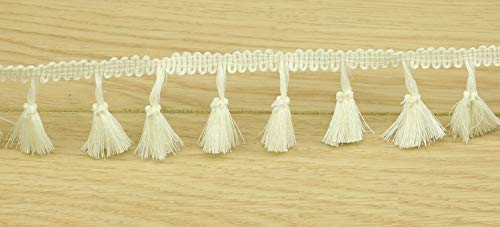 Curtains and More Chris.W 10 Yard Beige Cotton Tassel Fringe Trim Bedding 4.5cm Wide Lace Trim Ribbon Trimming for Sewing Crafts Clothing