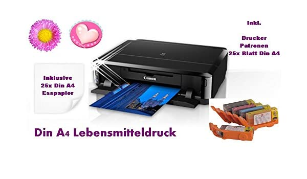 Impresora de alimentos, DIN A4, con cartuchos de alimentos ...