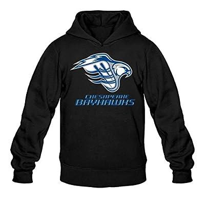 JUXING Men's Chesapeake Bayhawks MLL Logo Hoodies XXL Dark Grey