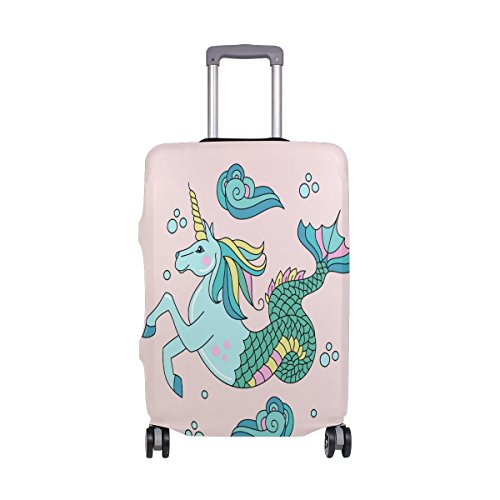 Price comparison product image ALAZA Horse With Fish Tail Travel Luggage Cover DIY Prints Protector Suitcase Baggage Fit 18-32 inch