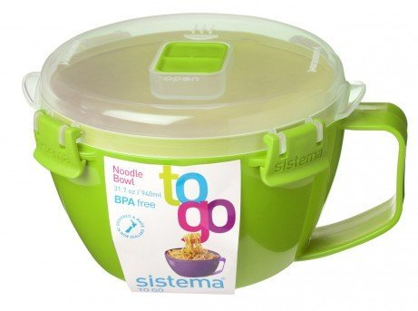 Sistema Noodle Bowl to Go Green 31.79 oz/940 ml (Bowl Go To Noodle)