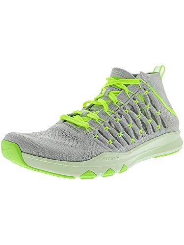 NIKE Train Ultrafast Flyknit Sz 11 Mens Cross Training Pure Platinum/Volt-Ghost Green-Volt Tint Shoes