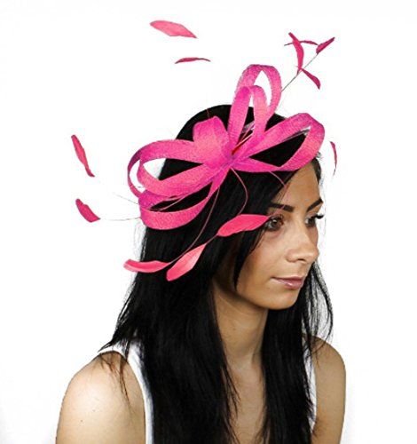 Gorgeous Butterfly Mint Sinamay with Silk Flowers and Feathers Ascot/Derby Fascinator Hat - With Headband