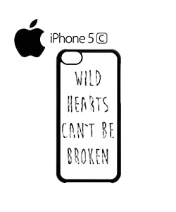 Wild Hearts Can't Be Broken Bad Girl Cell Phone Case Cover iPhone 5c White