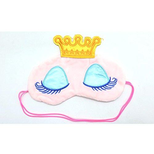 Princess Eye Mask - IDS Sleeping Beauty Eye Mask, Cute Sleeping Beauty Cartoon Eye Mask Blindfold for Kid's Sweet Dreams, Pink