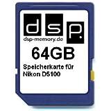 DSP Memory Z-4051557365797 64GB Speicherkarte für Nikon D5100