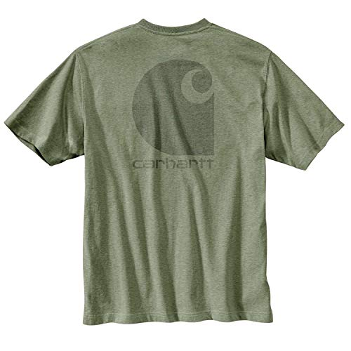(Carhartt Men's Workwear C-Logo Graphic Pocket Short Sleeve T-Shirt - 371-OGH - XLG - TLL)