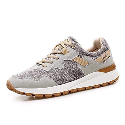 KOKQSX-Otoño Zapatos de los Deportes Correr Chica Estudiantes Zapatos para Correr la luz Transpirable la absorción de Choque Zapatos Casuales. 38 Color Camello 35 camel color