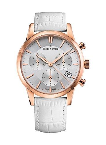 Claude Bernard Ladies-Wristwatch Jolie Classique Chronograph Date Quartz 10231 37R AIR