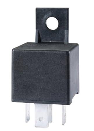 A 933332181 12V 40 Amp SPDT Mini ISO Relay with Bracket , Black on