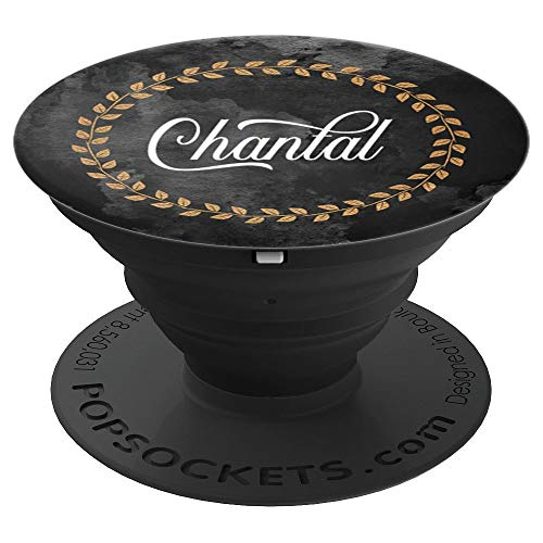 - Chantal Name Custom Gift Elegant Monogram Initial Art Gifts - PopSockets Grip and Stand for Phones and Tablets