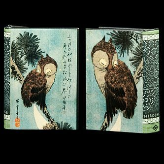 Art Masterpiece Collection Small Brown Owl on a Pine Branch by Utagawa Hiroshige Decorative Book Box (Nesting Book Boxes)