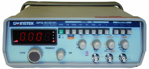 Instek Offset Generator (GW Instek GFG-8020H Function Generator with 4 Digits LED Display, TTL/CMOS Output, 0.2Hz to 2MHz Frequency Range)