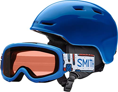 Jr Ski Goggle - Smith Optics Zoom Jr/Gambler Combo Youth Snow Goggles - Blue/Youth Medium