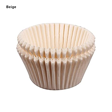 Cheerfulus 100pcs Cupcake Liners Paper Cake Case Baking Cup