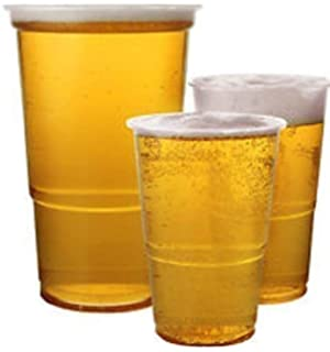 47a4cbfdbc9 We Can Source It Ltd ® - 1000 x Clear 1 2 Half Pint 11oz Strong Plastic  Beer Cups Glasses…