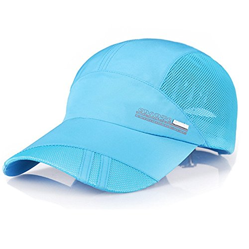 YING LAN Summer Autumn Men Women Outdoor Sport Baseball Hat Running Visor Sun Cap (Blue)