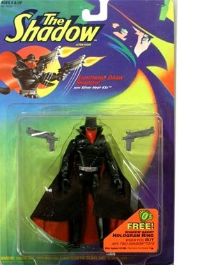 The Shadow Action Figure - Lightning Draw Shadow with Silver Heat 45s