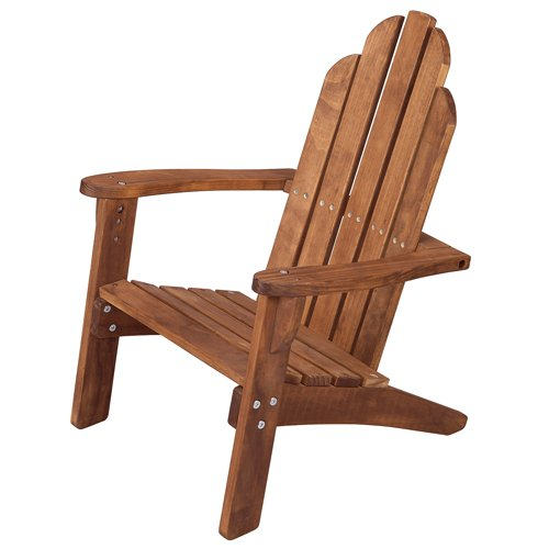 Maxim Child's Adirondack Chair. Kids Outdoor Wood Patio Furniture for Backyard, Lawn & (Adirondack Deck Chair)