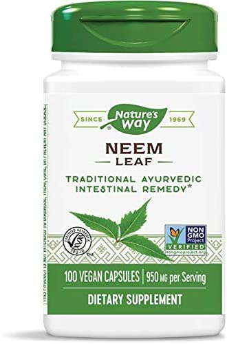 Nature s Way Premium Herbal Neem Leaf 950 mg, 100 Vegetarian Capsules, Pack of 3