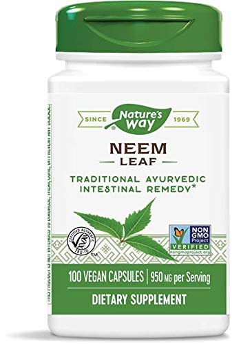 Nature's Way Premium Herbal Neem Leaf 950 mg, 100 Vegetarian Capsules, Pack of 3