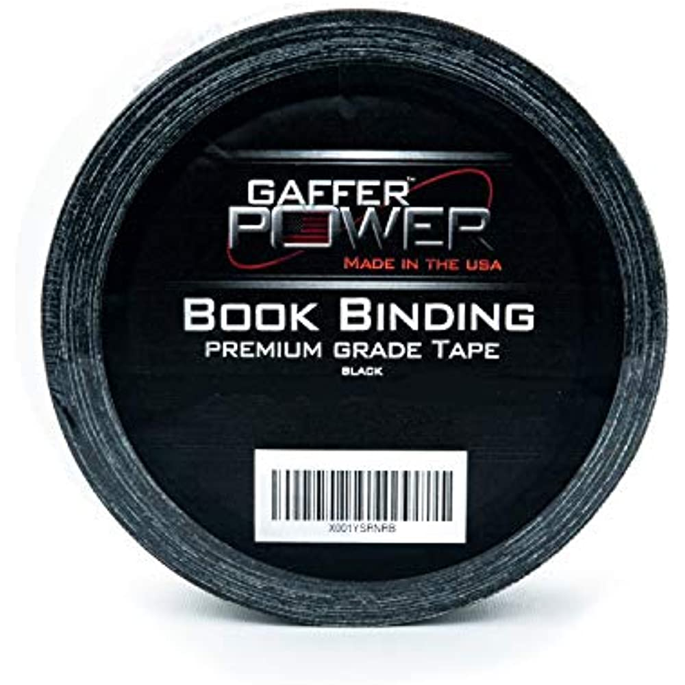 Bookbinding Tape By Gaffer Power, Black Cloth Repair Safe
