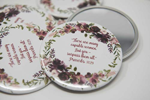10 POCKET MIRRORS - There are many capable women, but you - surpass them all. Gifts for Elder's wife, gifts for pioneers, gifts for your wife