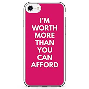 iPhone 7 Transparent Edge Phone Case You Cant Afford Phone Case Girl Strong Phone Case Girl Power iPhone 7 Cover with Transparent Frame