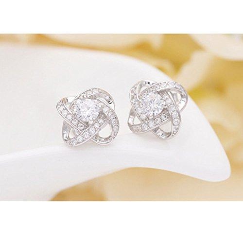 Yoome Sterling Silver Cubic Zirconia Teardop collana pendente cuore collana donna e orecchini regalo gioielli