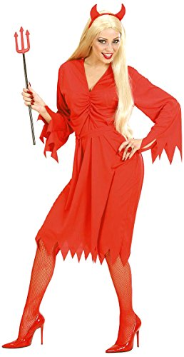 Ladies Devil Woman Costume Small Uk 8-10 For Halloween Satan Lucifer Fancy Dress