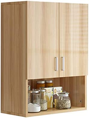 Amazon Com Kitchen Assembly Wall Cabinet Bathroom Cosmetics Hanging Cabinet Balcony Wall Hanging Medicine Cabinet Wood Based Panel Color Wood Size 306080cm Home Kitchen