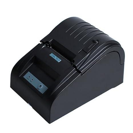 LEMNOI ZJ-5890T - Impresora Térmica de Recibos y Billetes (58MM, 90mm/sec, ESC/POS, Mini USB Portátil, Conpartible con Win XP/Vista/Win 7/Win ...