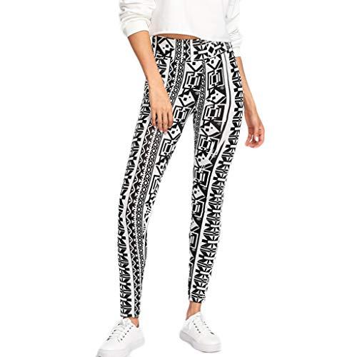 Landscap Women Digital Printing Tight Joggers Exercise Gym Leggings Fitness and Running Casual Yoga Pants (Black,L)